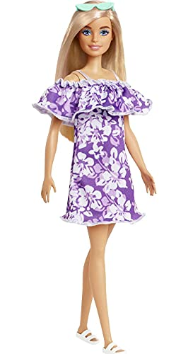 Barbie Loves The Ocean - Purple Floral Dress w/ Ruffle