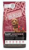 Burns Pet Nutrition Hypoallergenic Complete Dry Dog Food Adult and Senior Dog Alert Chicken and Brown Rice 12 kg