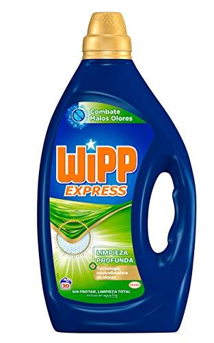Wipp Express Detergente Lavadora Líquido Anti-Olores – 30 Lavados (1.5 L)