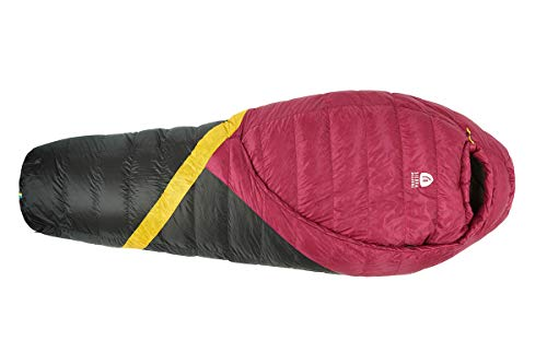 Sierra Designs Cloud 20 Degree DriDown Sleeping Bag Ultralight Zipperless Down Sleeping Bag for Backpacking and Camping - Women's