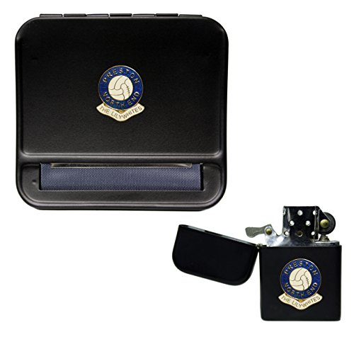 Preston North End Football Club Cigarette Rolling Machine and storproof Petrol Lighter