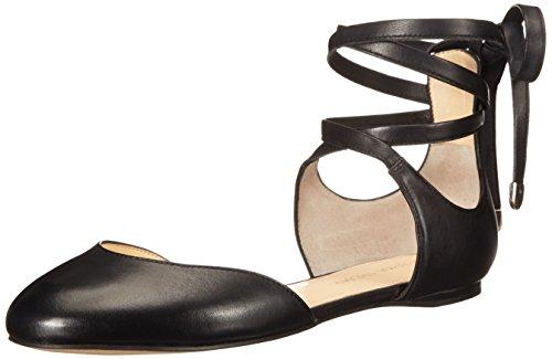 Ivanka Trump Women's Elise Ballet Flat, Black, 7.5 M US