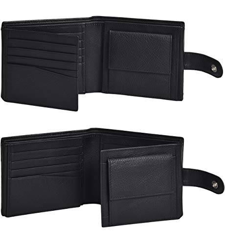 Eono by Amazon Geniuine Leather Wallet with RFID for Men-Coin comparment Multi Credit Card Slim Wallets