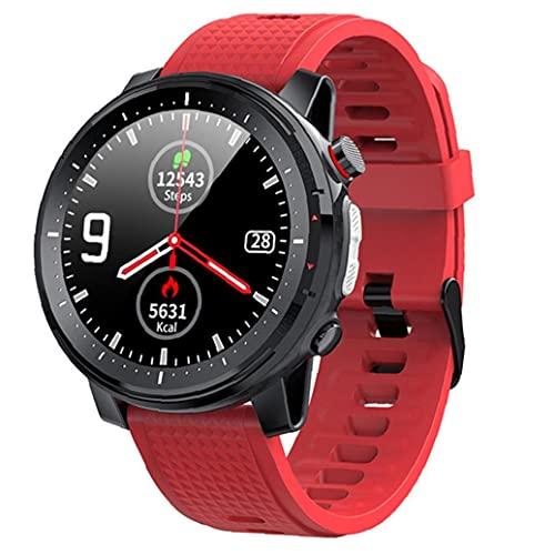 Inteligente Reloj Bluetooth pulsera de los deportes IP68 a prueba de agua de pantalla táctil Hombres Mujeres electrónica de la aptitud del reloj rastreadores rojas