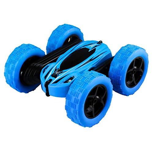 XIHAI Coche Teledirigido Doble Acrobacia Doble 2.4GHZ RC Offroad Buggy RotacióN De 360 ° Coche RC 1:16 para Juguetes para NiñOs Adultos,Azul