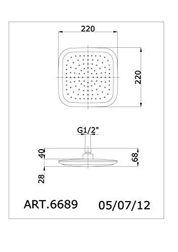 Fromac Kopfbrause 22x22 cm SOFFIONI ABS Ausführung: chrom 6689, 61441.C