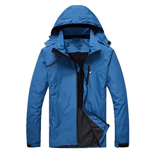 Frühling Herbst Herren Wanderjacken Männer Outdoor Sport Klettern Trekking Jacke Wasserdicht Regenmantel Gr. 48, blau