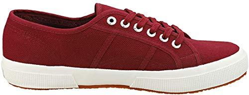 Superga Sneaker 2750 COTU Classic Rot Dk Bordeaux White, Schuhgröße:38