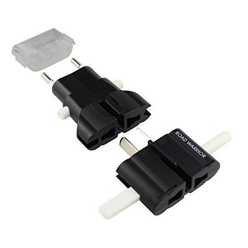 ROAD WARRIOR Universal Travel Plug Adapter European/UK/Australia/USA/India/China Worldwide, Designed in Japan -RW101BK