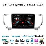 Android Car Stereo Radio Sat Nav Double DIN para KIA/Sportage 3 4 2016-2019 Navegación GPS Pantalla táctil de 9 Pulgadas Unidad Principal Reproductor Multimedia Receptor de Video WiFi