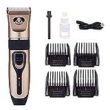 Maquinillas eléctricas Cortador cortador de pelo eléctrico profesional y estética for mascotas Máquina de afeitar recargable del pelo del corte de pelo de las podadoras ( Color : A1 , Size : 1 )
