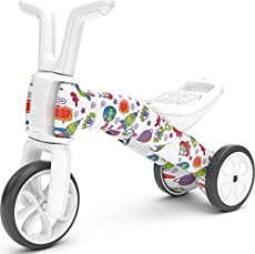 Chillafish Bunzi FAD 2-in-1 Toddler Balance Bike and Tricycle, Ages 1 to 3 Years Old, Adjustable Lightweight First Gradual Balance Bike with Silent Non-Marking Wheels, When Monsters Meets Stars