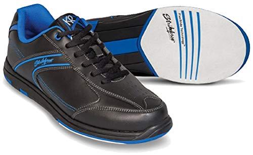 EMAX KR Strikeforce Flyer Bowling-Schuhe Damen und Herren, für Rechts- und Linkshänder in 4 Farben Schuhgröße 38,5-48 mit gratis Schuh-Deo Titania Foot Care (Blau, US 10,5 (43))