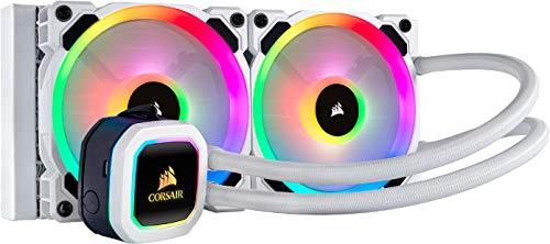 Corsair Hydro Series H100i ELITE CAPELLIX Wasserkühlung/CPU-Flüssigkeitskühlung (240mm Radiator, Zwei LL120 RGB-PWM-Lüfter, Erweiterte softwaregesteuerte RGB Beleuchtung) weiß