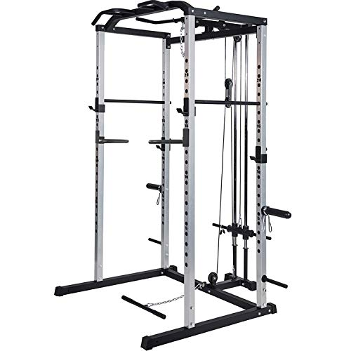 Vanswe Power Rack Power Cage 1000-Pound Capacity Home Gym Equipment Exercise Stand Olympic Squat...