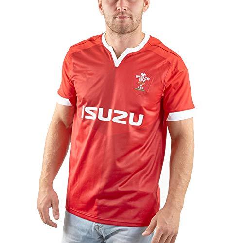 Herren Rugby Trikot, 2020 Wales Rugby Polo Shirt Training T-Shirt, Unterstützer Fußball Sport Top, Bestes Geburtstagsgeschenk-S