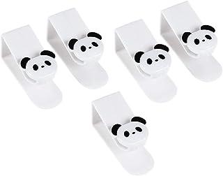 TOPBATHY 5個 ドアフック かわいい パンダの形 ドア ハンガー ドアバックフック 洋服 タオル ホーム オフィス バスルーム(ランダムな色)