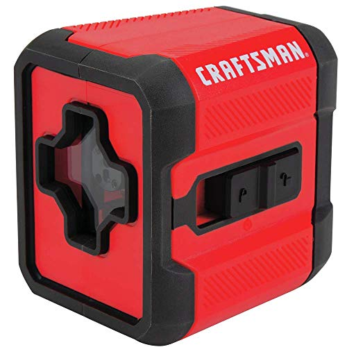 CRAFTSMAN Laser Level, Cross Line, Red, 36-Foot Range (CMHT77629)