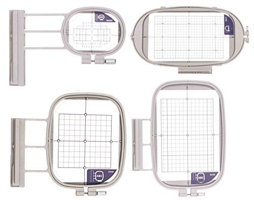 Stickrahmen 4er-Set für Brother Innovis 6000D, 4000/D, 2500D, 1500/D, 800e,1500,2600,V3,V5,V7,XV,1,1e