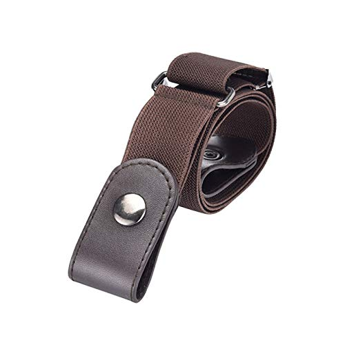SENFEISM Cinturón para Mujer Cinturón fácil sin Hebilla Cinturones sin Hebilla para Mujer Cintura elástica Jeans elásticos Ocultos Hombres Invisibles
