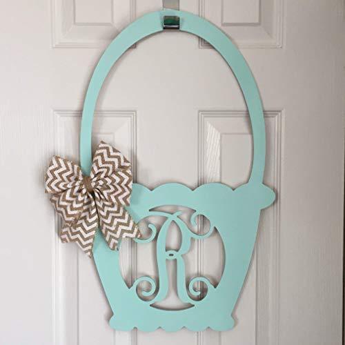 Sprinf Wreath Spring Door Hanger Spring Monogam Door Hanger Easter Door Hanger Bunny Door Hanger Easter Wreath Monogram Door Hanger