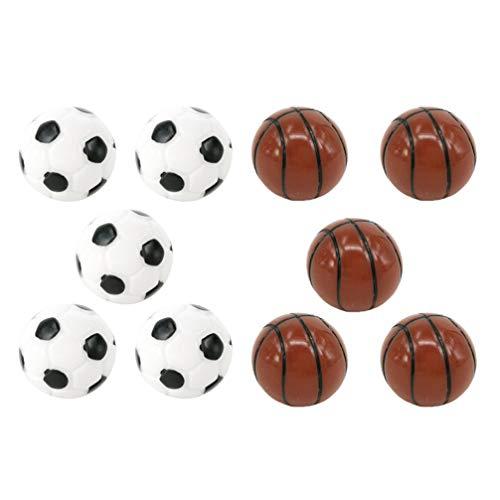 TOYANDONA 10 Unids Mini Adornos Deportivos Casa de Muñecas Baloncesto Fútbol Decoraciones en Miniatura Patio Micro Paisaje Bonsai Pecera Accesorio