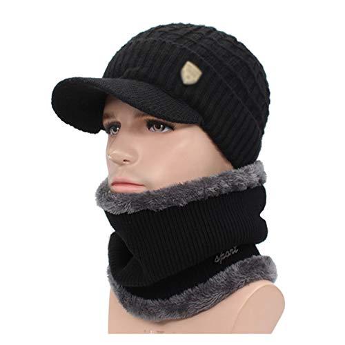 Sombreros de punto Skullcap Winter Retro Skullies del sombrero del invierno de los hombres Gorros de lana bufanda Caps punto de capó sombrero caliente se divierte los sistemas de punto de esquí sombre