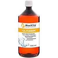 MeaVita - Glicerina 99,5% para la desinfección del bricolaje, puramente vegetal, Pack de 1 x 1000ml