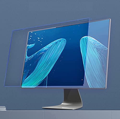 WLWLEO 27 Pulgadas computadora Anti luz Azul Pantalla Filtro Universal Escritorio PC Monitor Panel Protector Protección para los Ojos& Resistente a rayones Película Tipo Colgante