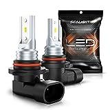 SEALIGHT 9145 H10 LED Fog Light Bulbs 9140 9045 9040 PY20D LED Replacement 6000K White Advanced CSP Chips Non-polarity