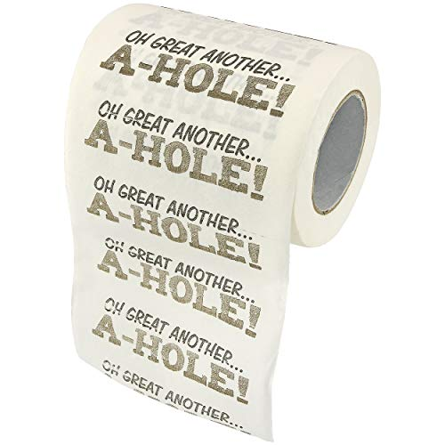 Fairly Odd Novelties A-Hole Novelty Toilet Paper.