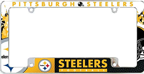 Steelers All Over Chrome License Plate Frame