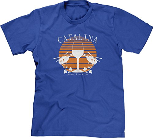 Catalina Annual Wine Mixer Mens T-Shirt, XL, Royal Blue