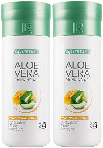 LR LIFETAKT Aloe Vera Drinking Gel Honig Nahrungsergänzungsmittel (2x 1000 ml)