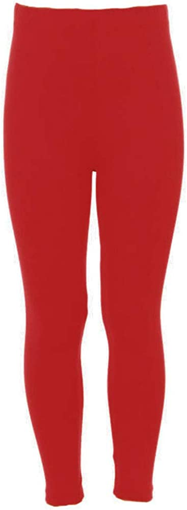 iZZYZX Solid Kids Leggings with High Waist and Elastic Waistband - Ages 4~8