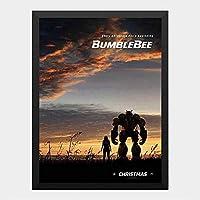 ハンギングペインティング - バンブルビー BUMBLEBEEのポスター 黒フォトフレーム、ファッション絵画、壁飾り、家族壁画装飾 サイズ:33x24cm(額縁を送る)