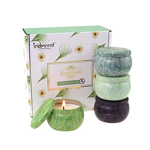 UG1 Citronella Candle,Scented Candles Gift Set of 4 X 4.4 Oz, Soy Wax Candle Outdoor and Indoor