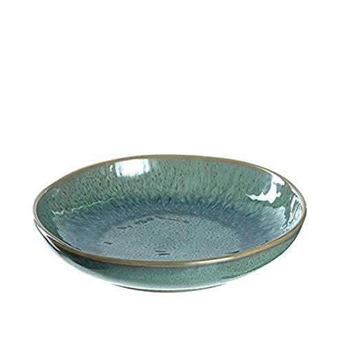 Leonardo - Matera - Suppenteller, Teller tief - Keramik - Farbe: Grün - Maße (ØxH): 21 x 4 cm