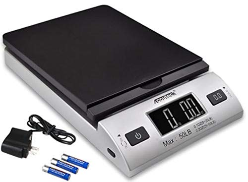 All-in-1 Series A-Pt 50 Digital Shipping Postal Scale with Ac Adapter,/Silver