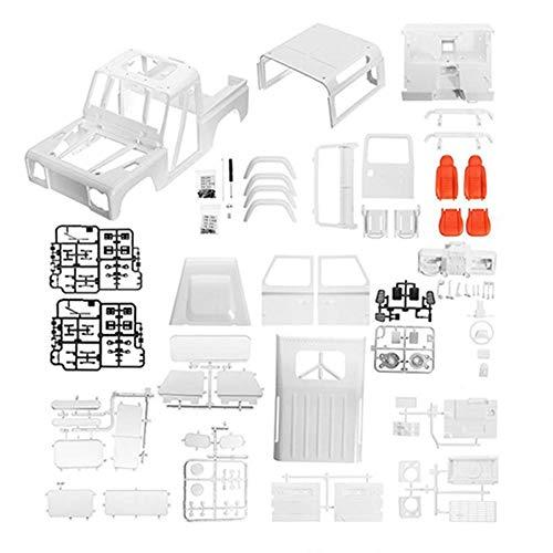 RC Crawler Carcasa del Cuerpo, ABS 161003A 161004A Marco del Cuerpo Adecuado Escala 1:10 Piezas de Actualización de Coches de Orugas(161004A)