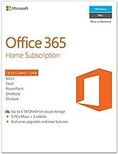 Microsoft Office 365 Home Premium, 1yr Subscription, for 5 PCs or MACs, 6GQ-00022