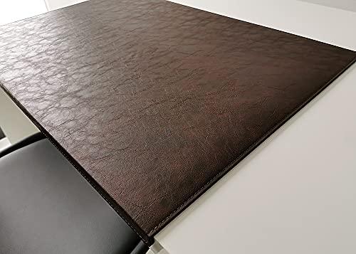 Vade de escritorio en piel Lora (60 x 38 cm), color marrón oscuro
