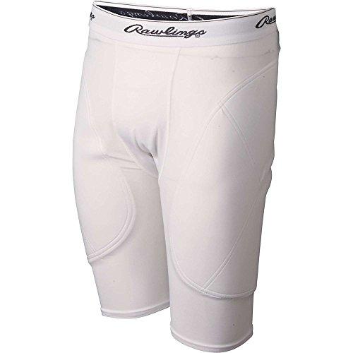 Rawlings Men's Sliding Short, White, X-Large