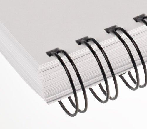 Renz Ring Wire Drahtkamm-Bindeelemente in 3:1 Teilung, 34 Schlaufen, Durchmesser 16.0 mm, 5/8 Zoll, schwarz