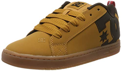 DC Shoes Herren Court Graffik Se-Low-top Shoes for Men Skateboardschuhe, Wheat/Turkish Coffee, 40.5 EU
