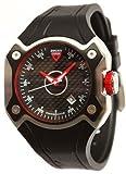 Ducati CW0019 - Reloj de Caballero de Cuarzo, Correa de Goma Color Negro