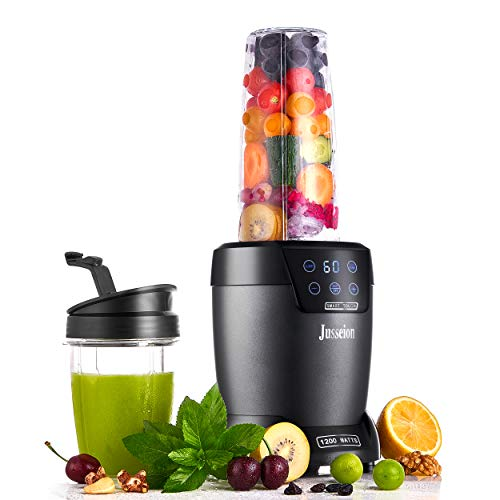 Bullet Blender Smoothie Blender Blender for Shake and Smoothie 1200W Digital Touch Screen Blender for Smoothie Smoothie Maker Shake Blender for Kitchen for Smoothies 18&35 OZ Cups with To-Go Lids