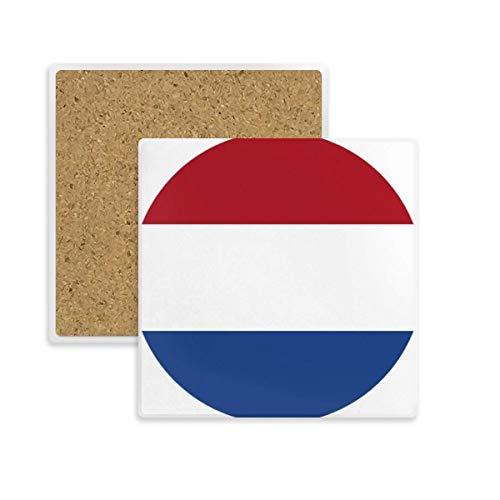 DIYthinker Drapeau National des Pays-Bas Europe Pays Place Coaster Tasse Porte Absorbent Pierre pour Le Cadeau de Boissons Multicolor