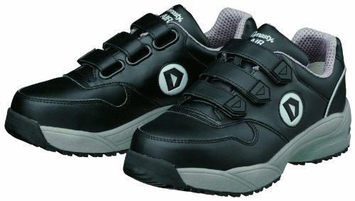 [ドンケル] Dynasty AIR 安全靴 スニーカー マジック式 撥水 耐油 耐滑底 JSAA A種 WO+22M メンズ ブラック 24.5