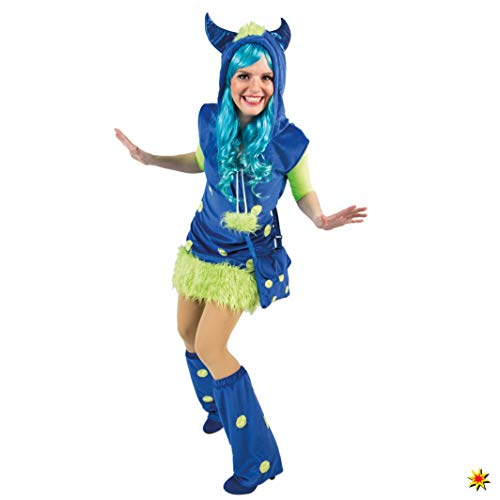 Orlob Handelsgesellschaft Damen Monsterkostüm Kleid blau Kostüm Monster Fantasy Märchen (40/42)